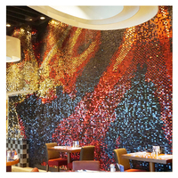 2018 advertising material shimmer sequin wall