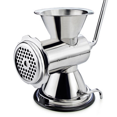 Home Use Manual Stainless Steel Meat Grinder/Pusher