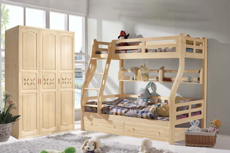 goomi solid wood children bunk bed bedroom furniture g808 modern kids double deck bed from