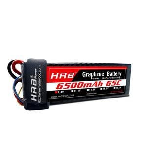 HRB 1s 2s 3s Lipo 4s 5s 6s 7.4V 100C Max 200C battery 100c 6500mAh high discharge rate lipo battery rc car lipo hard case