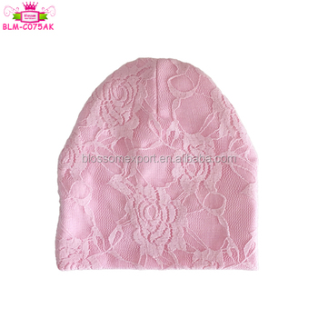 Wholesale baby newborn kids plain color Kids Lace Hats/newborn Baby Cute Soft Cap