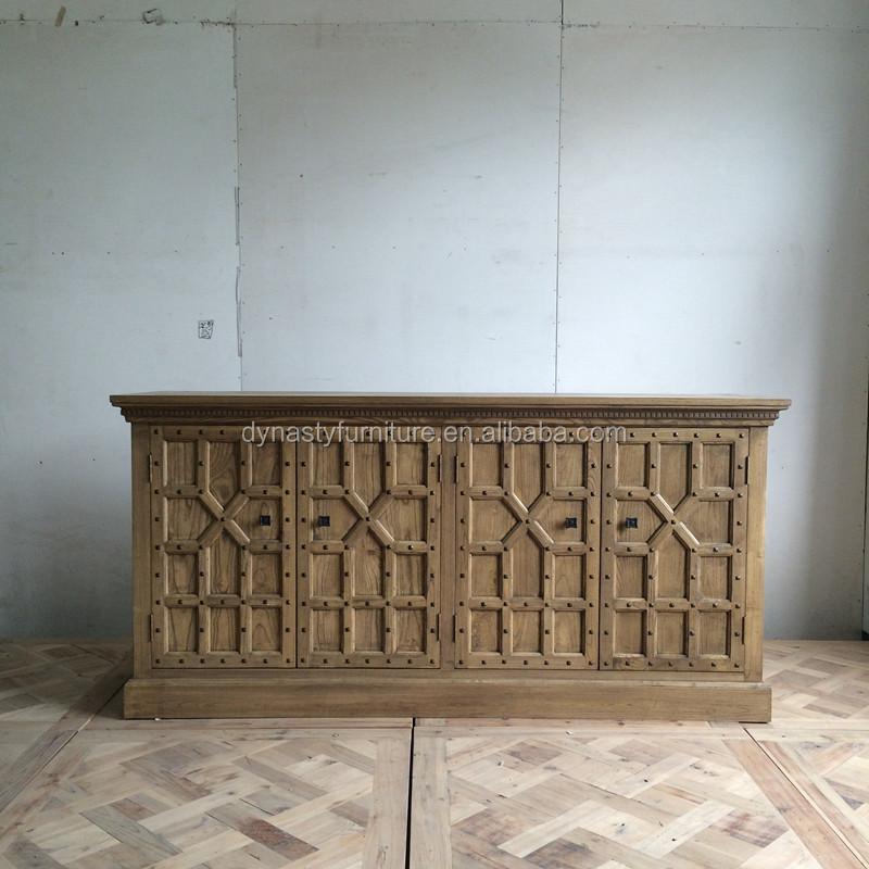 Holz Stil Ulme Natrliche Sideboard Schrank Verwendet In Wohnzimmer Innen