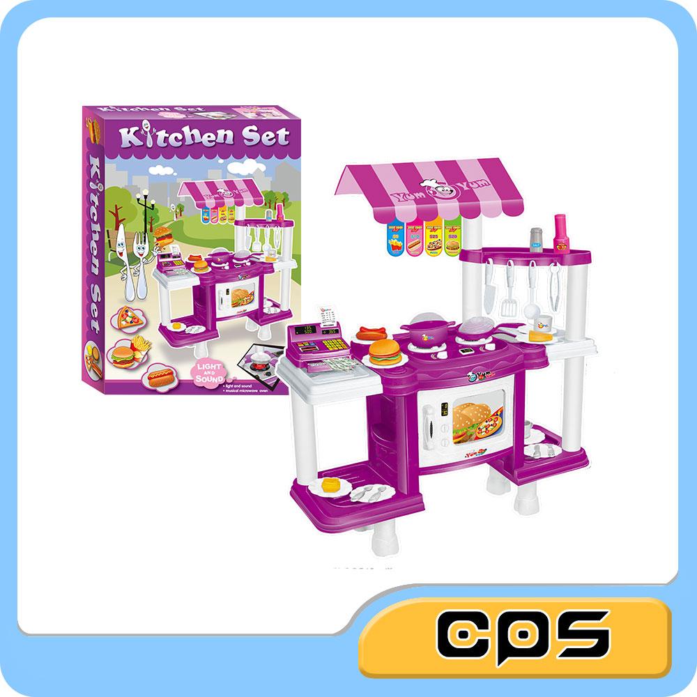 nios juego de cocina set de cocina de comida rpida diy juguetes de cocina de juguete