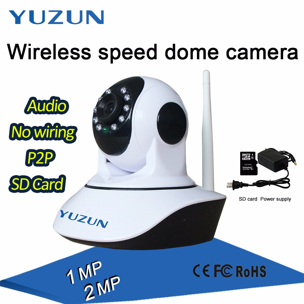 1MP mini speed dome wireless cctv camera wifi home <strong>security</strong>
