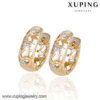 92961-top quality fashion jewelry white gold diamond earrings
