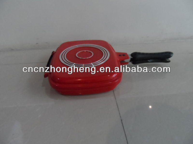 die cast double sided fry pan cookware set
