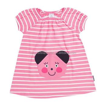 Neuen Stil Kind Baby Kleid Modell/baby Mädchen Plissiert Saum Rosa ...