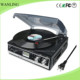 3 speed PLL radio vinyl record player with USB/SD encoding gramophone player