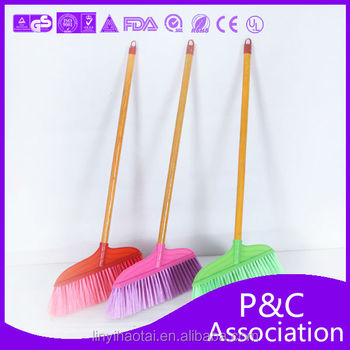 Wooden Handle Plastic Broom,Long Handle Broom Manufacturers In ...