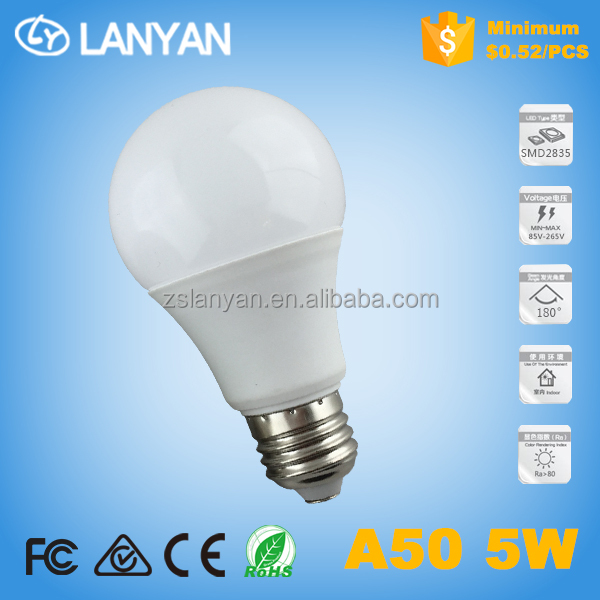 A50 5W G45 5W LED <strong>BULB</strong> factory wholesale