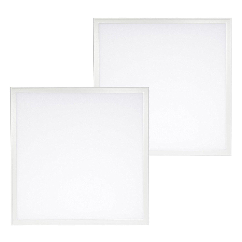 2- Pack DLC 4.0 Premium LED 2ft x 2ft Dimmable Flat Panel - 40 Watt - 5200 Lumens, 6000K