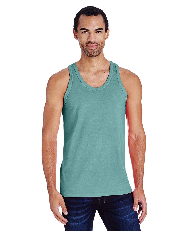 b3837782ef0983 Get Quotations · Hanes Mens Ring Spun Cotton Garment Dyed Tank (GDH300)  -Cypress GR -2XL
