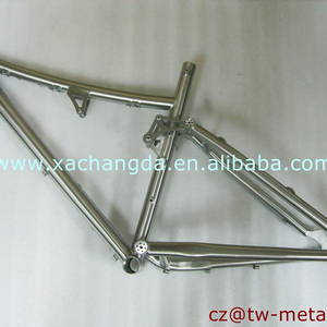 XACD titanium full suspension bicycle frame customized bike frame made in China