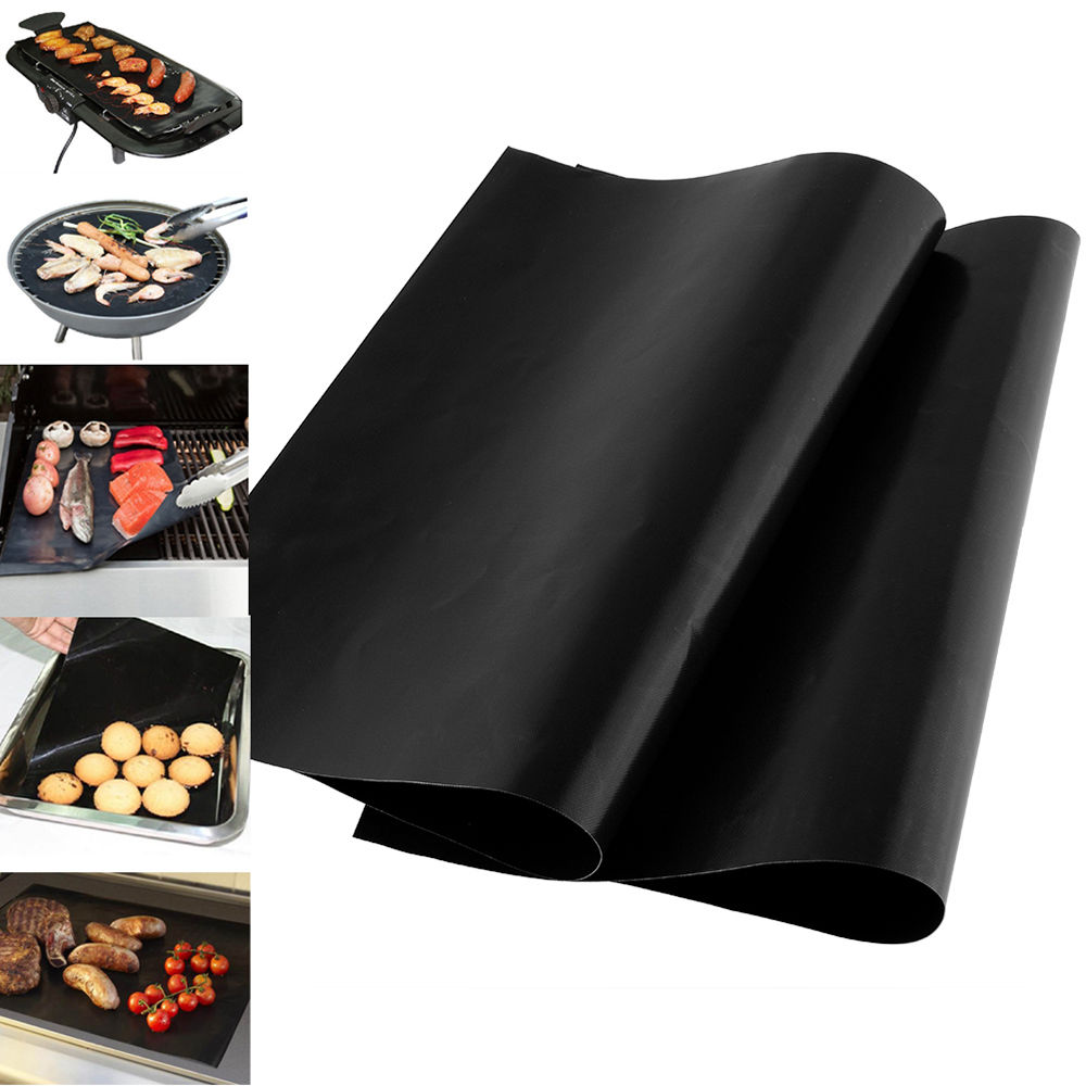 Warmte isolatie ptfe glasvezel 100% Non-stick hittebestendige BBQ Grill Matten, Bakken Matten, barbeque grill mat