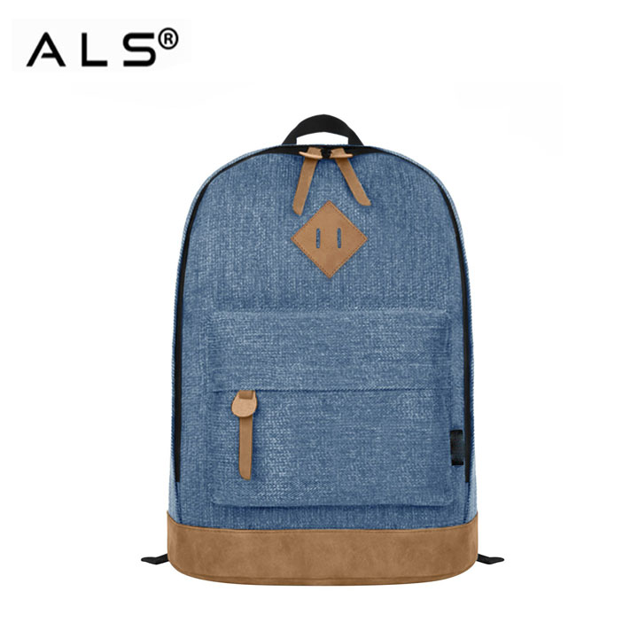 Alibaba China offer fancy laptop classic denim backpack
