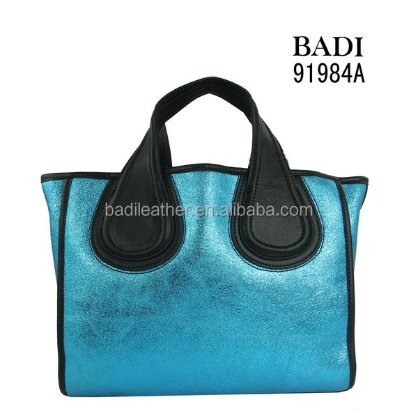 shinny handbag leather woman bags