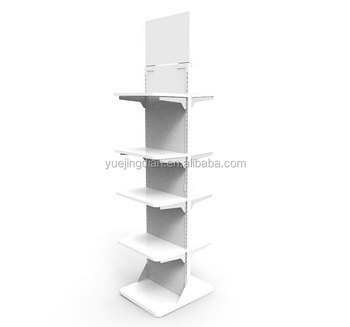 Exhibition Display Racks : Commodity exhibition tiers display shelf two sided flree
