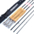 Fly Fishing Rod 4 Segments 2.1m Medium Fast Action Carbon Fiber Fishing Rods Wooden Handle Pole Canne A Peche