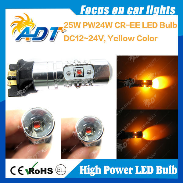 25w PW24W auto headlight usa cr led car headlight