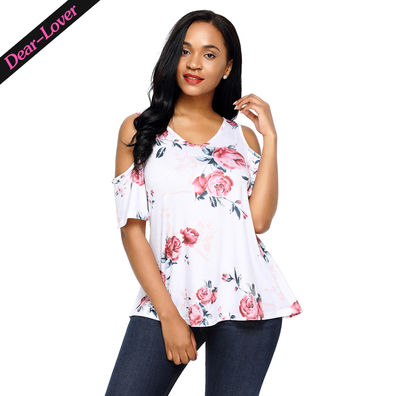 Sexy Wholesale Flourish Print Background Womens Top