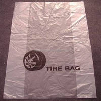 disposable custom size printing side gusset plastic tire storage bags for tyre packaging
