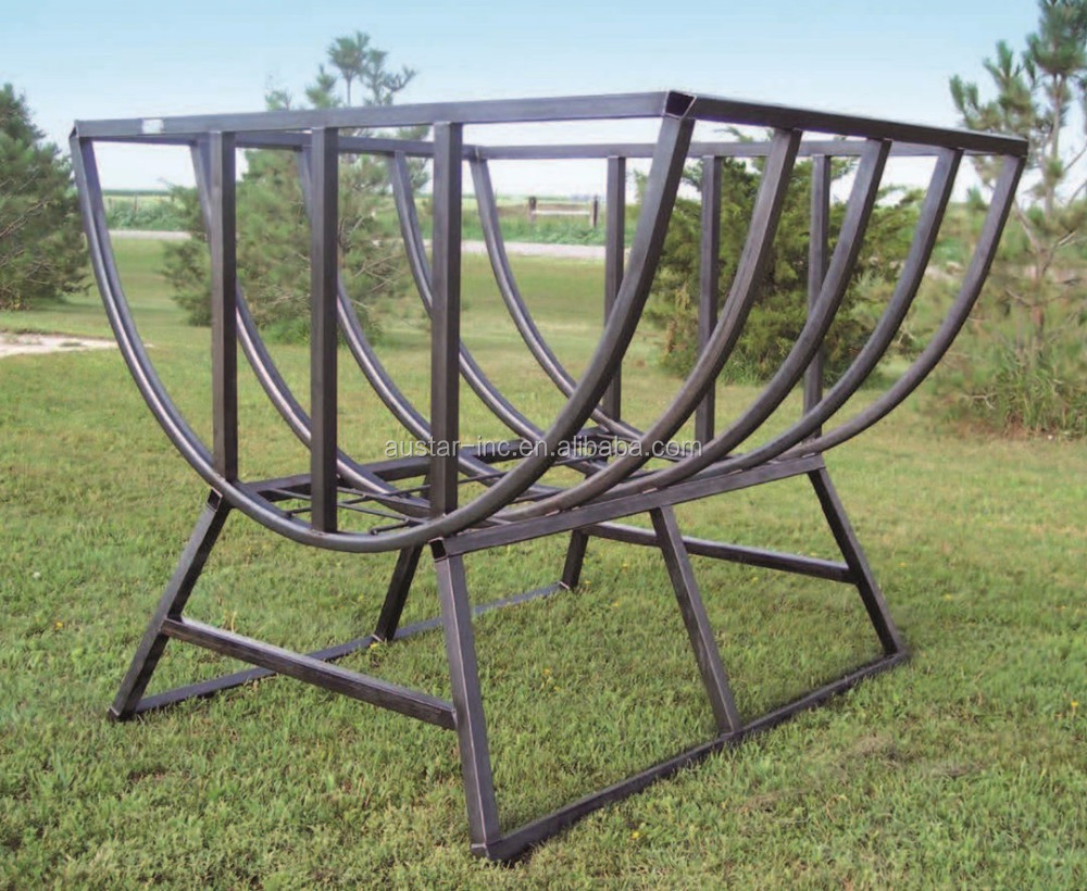 China manufacturer Galvanized Square Cattle Hay Feeder Round Horse Sheep Dry Bale Hay Feeder