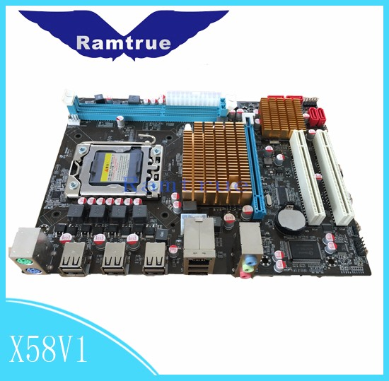 100% tested For P6T SE Mainboard Desktop Motherboard X58 ICH10R DDR3 LGA1366 ATX Fully tested all functions Work Good