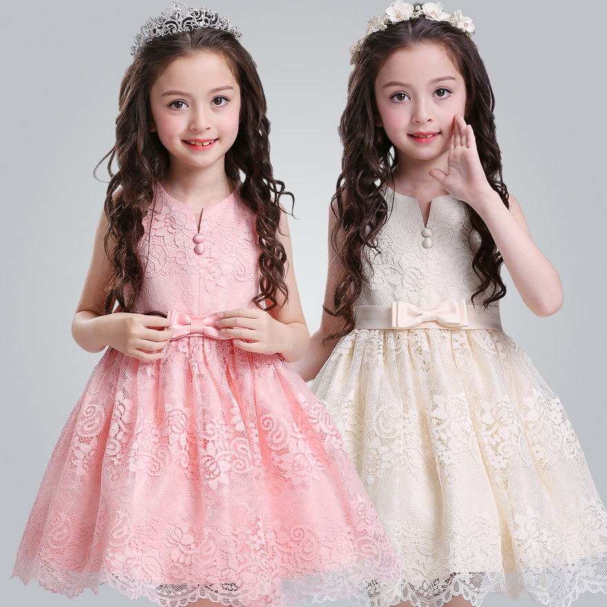 Luxury Boutique White Frock New Design Children Dress Fancy Girl Party Skirt L5020
