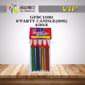 "GFBC1030 4"" PARTY BIRTHDAY CANDLES(30S) SMOKELESS & NO SMELL ICE FIREWORKS USED INDOOR CELEBRATION GOLDEN AND SILVER FLAME"