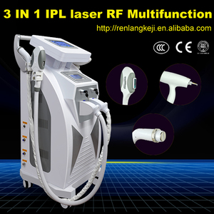 Powerful e-light ipl 3 in 1 multifunction beauty machine/elight hair removal