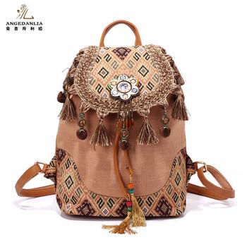 Thailand Tassen Buy Linnen Vintage Hippie Schoudertas Bohemian Schoudertassen Etnische Groothandel Rugzak Boho rugzak Stijl Vrouwen 4RAcq35jLS