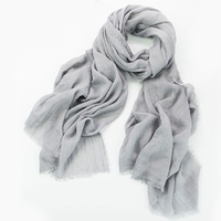 Lady Scarf Cotton Summer Spring Hot Sell Color Solid Cotton Linen For Girls Satin Plain New Fashion Summer Scarfs