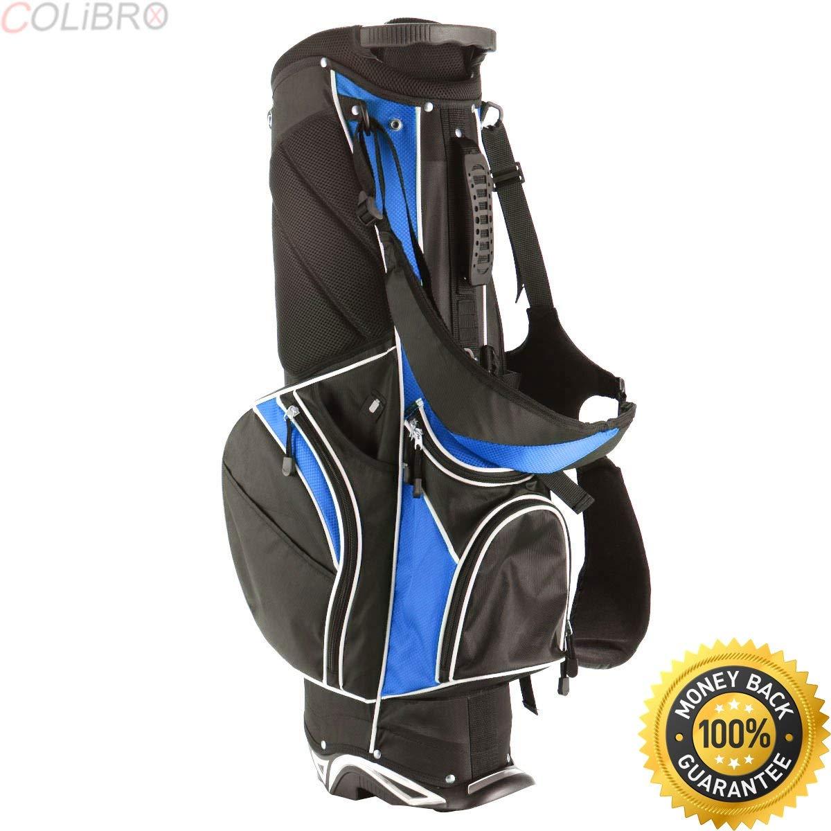 COLIBROX Golf Stand Cart Bag Club w/6 Way Divider Carry Organizer Pockets Storage Blue. hybrid golf bag. best golf cart bags 2017. best sun mountain golf sync cart bag amazon. blue golf cart bags.