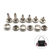 High quality round different size leather double cap stainless steel studs rivet