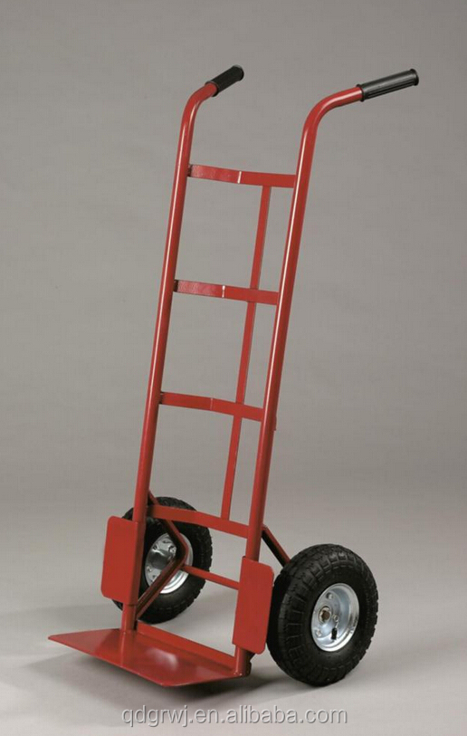 steel hand trolley two wheel platform cart for export