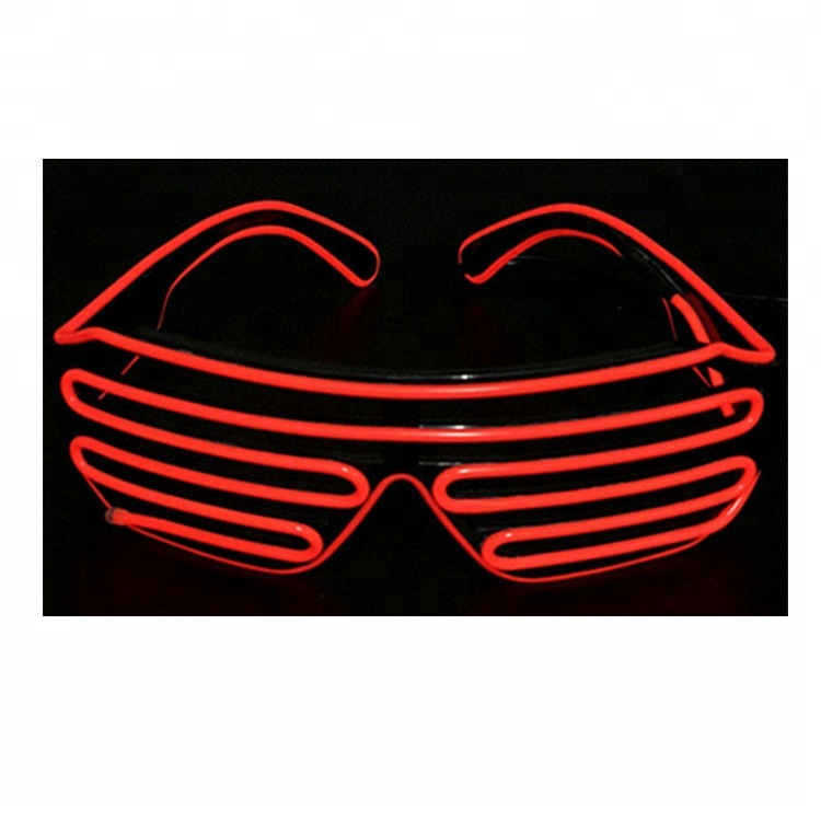 Glow Party Supplies Fashion Hot Sales El Glow Glasses Diy Led Neon Luminous Bling Eyesware For Rave Costume Party And Carnival Decor Party Supplise Sturdy Construction