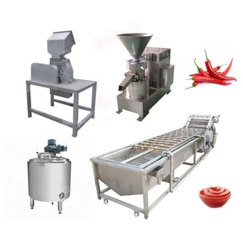 New design chili paste grinding chilli sauce making pepper sauce production line chili sauce processing machine