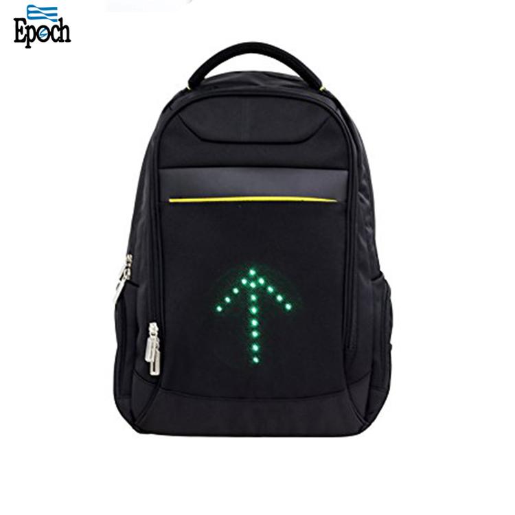 Atacado prático mochila led transformar a luz do sinal verde reflexivo para segurança noite ciclismo