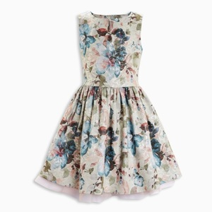 baby frock design picture kids girl sleeveless dress printed pattern casual style children boutique clothing