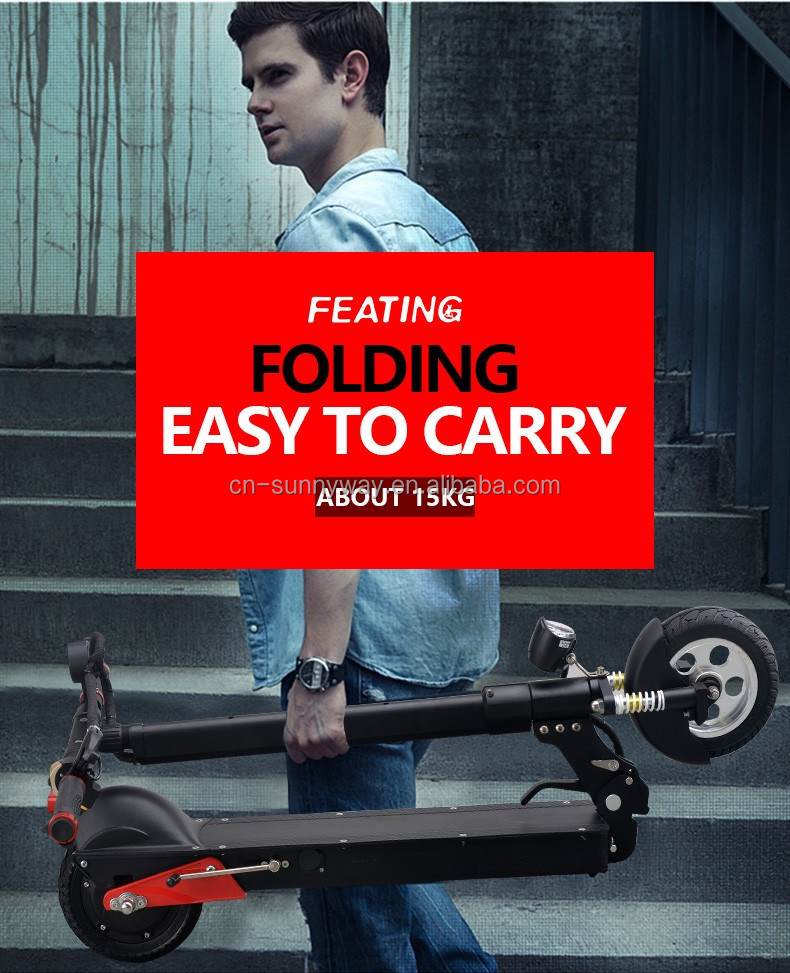 Folding Electric Scooter Electric Kick Scooter with Extendable Handle