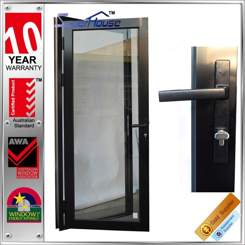 Superhouse Factory Exterior New zealand waterproof french LowE Glass storm doors Hinges Design