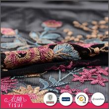 Fast delivery custom made flower embroidery design luxury thailand lace fabrics