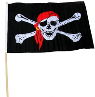 Wholesale Halloween Jolly Roger Pirates of the Caribbean Flag Cosplay Jolly Roger 30*45cm