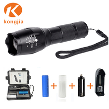 Professional Led Torch Manufacturer Military Quality T6 light black handheld