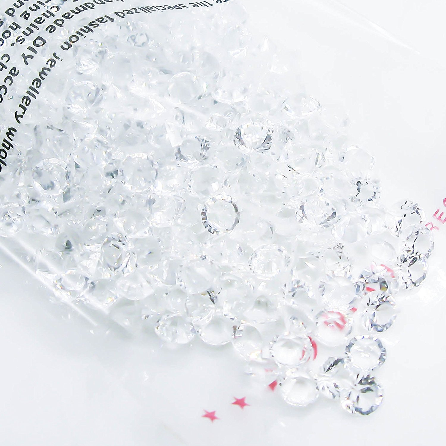 TOAOB 2000 Diamond Table Confetti Wedding Bridal Shower Party Decorations 1/3ct 4.5mm