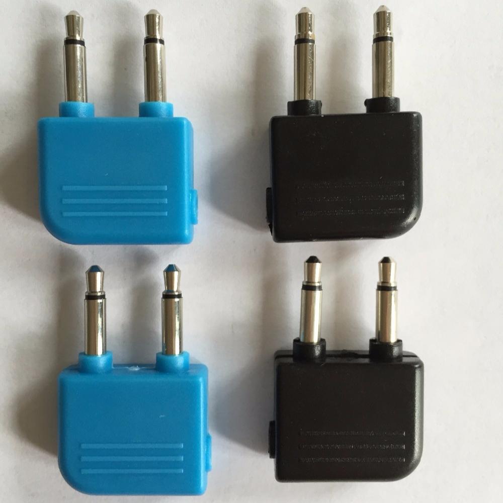2 ST Audio-Adapter  Mono Stecker-Stereo Buchse Flugzeugadapter