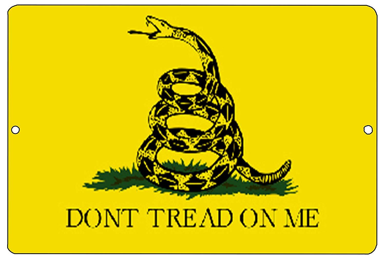 Rogue River Tactical Gadsden Flag Don't Tread on Me Metal Tin Sign Wall Decor Man Cave Bar Yellow Patriotic