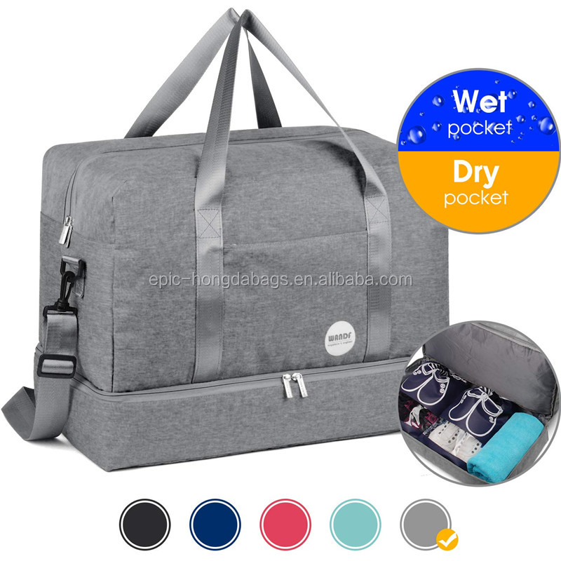 Waterproof Swimming Two Compartment Sports bag fitness dry and wet separation storage bag