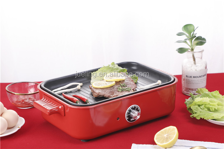 2019 New Functional Temperature Control Electric Grill Frying Pan