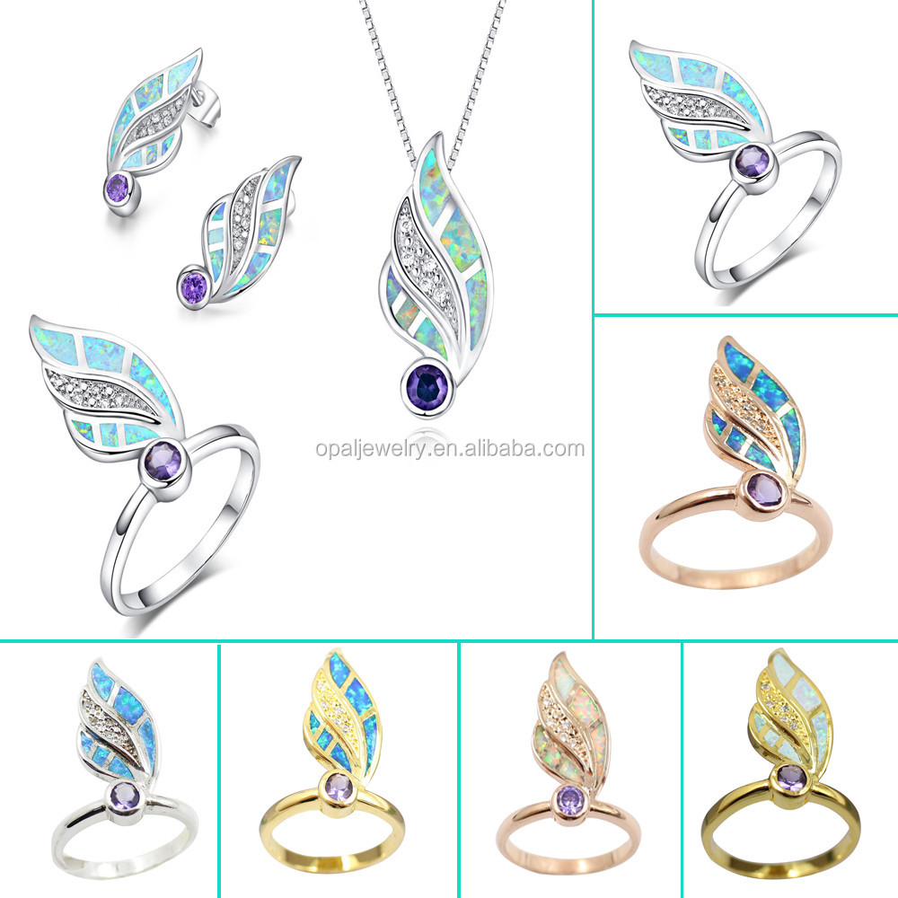 White Pink Fire Blue Australian Opal Ring 925 Silver Ring W ...